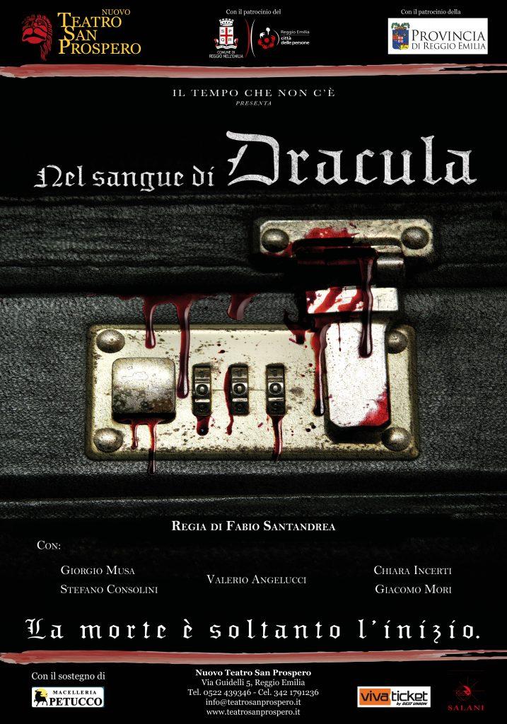Manifesto Nel Sangue di Dracula con ATTORI